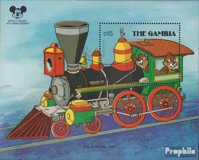 Gambia Block41 Never Hinged 1987 60 Years Mick 100% High Quality Materials complete Issue Unmounted Mint