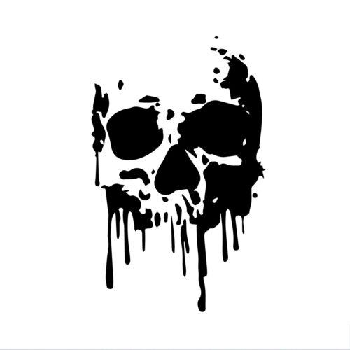 Skull Decal Window Bumper Sticker Car Decor Melting Dripping Skeleton Smile