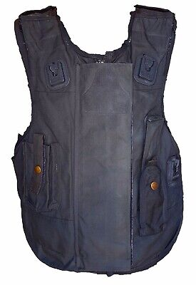 COVER ONLY X Police Black Zip Up Stab Bullet Proof Vest Body Armor S-3XL I4//C1