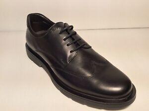 Zapatos-Hombre-Cordones-BRAKING-Art-6211-con-Negro-Piel-Autentica-Comodo-Leer
