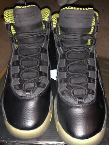 4abe55b381d Nike Air Jordan 10 Retro Venom Green (black/lime) Size 4 1/2UK 37.5 ...