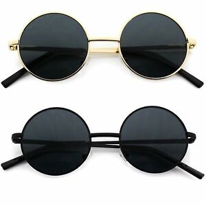 Retro Gold Frame Sunglasses : Small John Lennon Sunglasses Round Hippie Hipster Retro ...