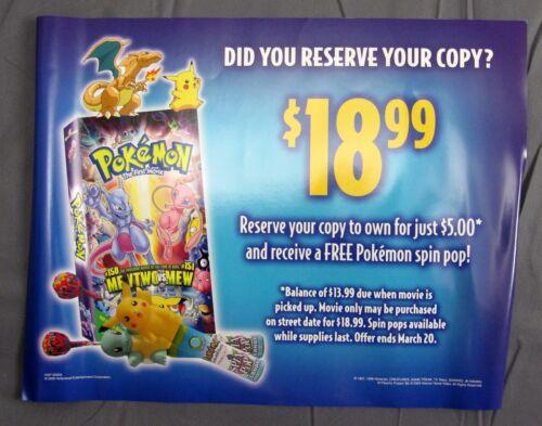 Star Wars Episode 1 /& Pokemon First Movie Mewtwo vs Mew VHS Video Store Advert