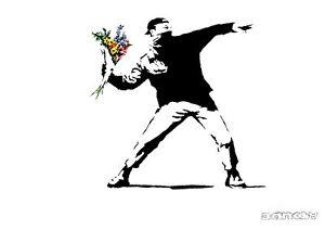Poster Print - Banksy Rioter A3 / A4