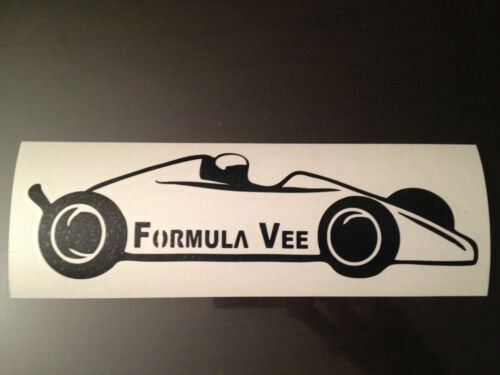 Formula Vee sticker Vinyl decal race graphics scca ford for Vw volkswagen V