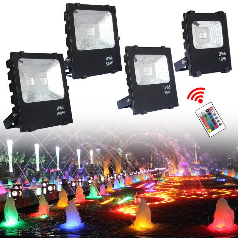 10W 30W 50W 100W LED Fluter Außenstrahler Flutlicht Scheinwerfer Garten IP66 RGB     | Qualitativ Hochwertiges Produkt  | Ausgezeichnete Leistung  | Lebendige Form