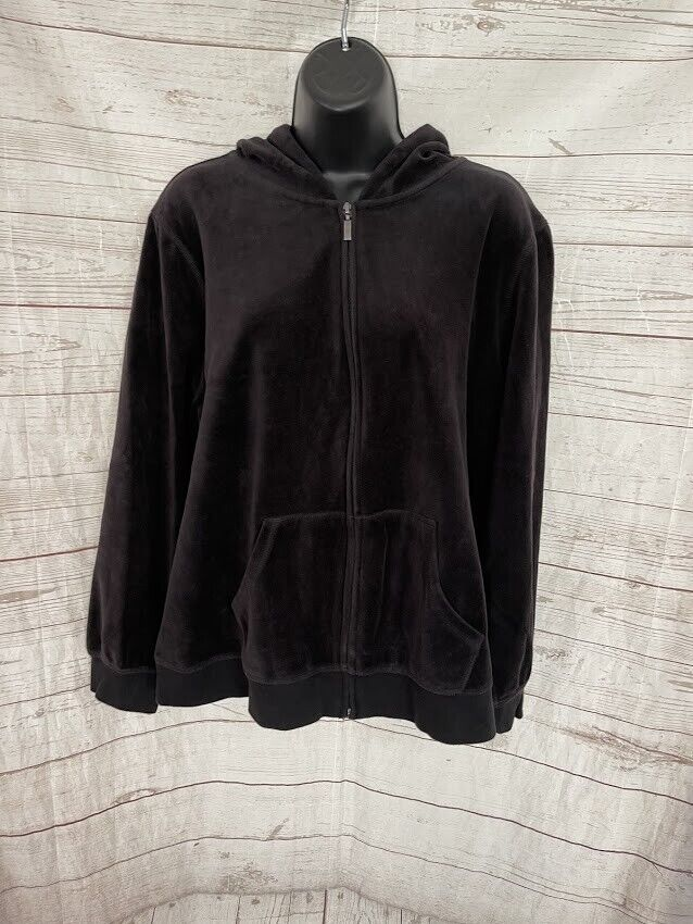 St. John's Bay Active Hoodie Full Zip Cotton Blend Size PXL