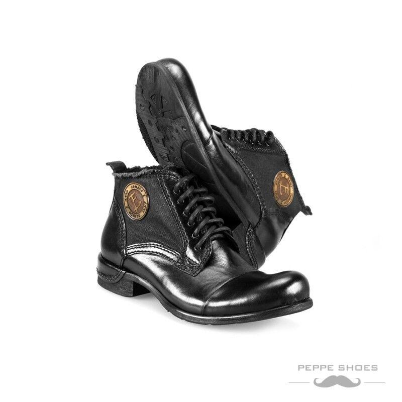 Modello Vieste - Hecho a Mano Coloridos Cuero Italiano Botines Negro