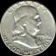 "A 1959 P Franklin Half Dollar 90/% SILVER US Mint /""Average Circulation/"""