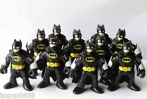 lot-10-Imaginext-DC-Super-Friends-Batman-blACK-Action-Figure-Fisher-Price-Hero-K