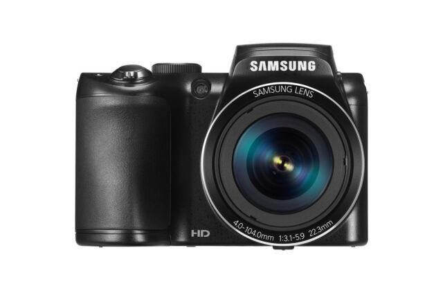 Samsung WB110 Digitalkamera (20,2 Megapixel, 26-fach opt. Zoom, 7,6 cm (3 Zoll)