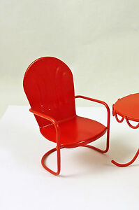 Attirant Image Is Loading Dollhouse Miniature Fairy Garden Retro Metal Lawn Chair