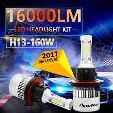 H13 9008 160W 16000LM CREE LED Headlight Kit Hi/Low Beam Bulbs White 6000K Power