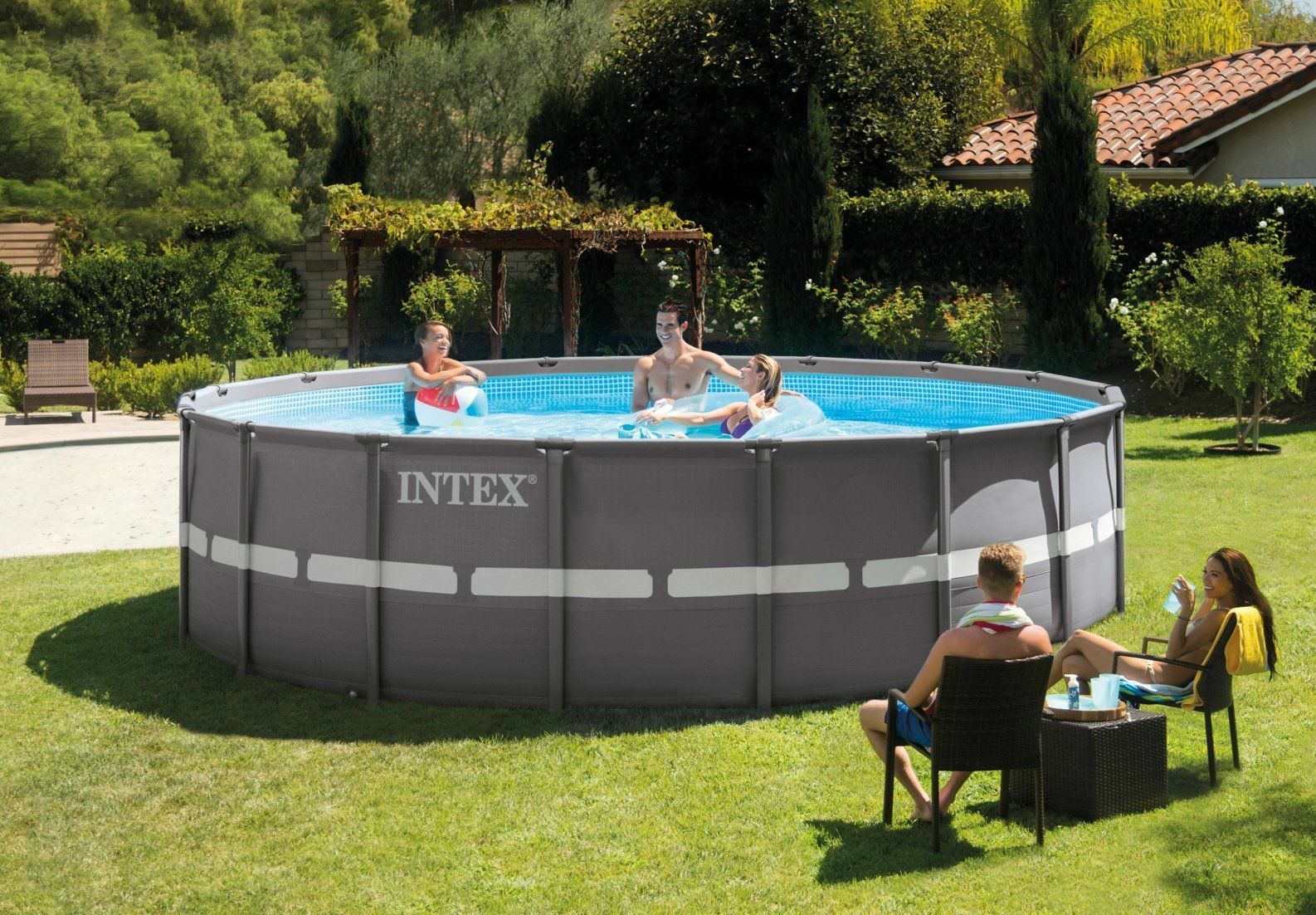 Intex Swimming Pool Ultra Frame Schwimmbad 549x132 Sandfilter 28332 ...