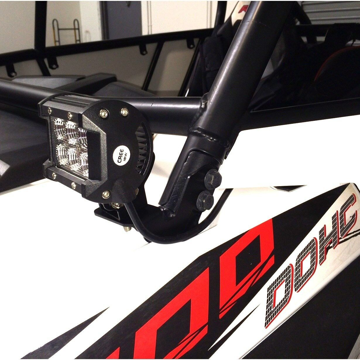 Led Work Light Mount Bracket Utv Offroad 2014 2015 Polaris