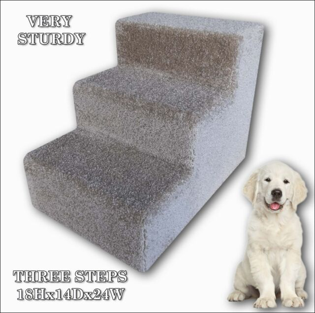 """Pet Steps for Dogs or Cats 18/"""" Tall x 14/"""" Wide x 18/""""Deep Dog  Steps."""