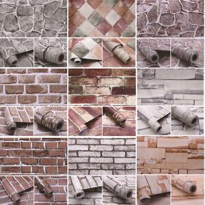 Selbstklebende-Tapete-Stein-Ziegel-Optik-3D-Wandtattoo-Dekofolie-Wasserdich-2019