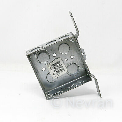 Steel City 52151-3//4W Pre-Galvanized Steel Square Box with 1//2-Inch and 3//4-Inch Knockouts Thomas /& Betts