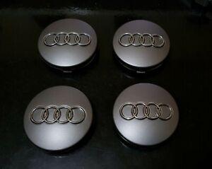 4x Audi 60 mm moyeu BOUCHONS MOYEU des enjoliveurs jantes Couvercle Black S