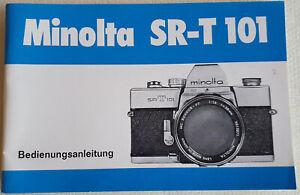Original Bedienungsanleitung Owner's Manual Minolta SR-T 101 in Deutsch Top