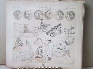 Vintage-Print-GREECE-COSTUMES-MILITARY-Didot-19th-Century