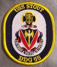 Navy USS Stout DDG 55 Military War Ship Patch   eBay