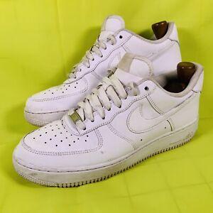Nike-Air-Force-1-AF1-039-07-Triple-tutte-le-Scarpe-Da-Ginnastica-Bianche-Da-Uomo-Taglia-UK-8-EU-42-5