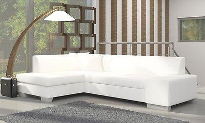 Ecksofa Fabian mit Bettfunktion Eckcouch Sofa Couch Schlaffunktion Polster 01539