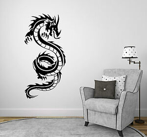 tribal drache wandbild dragon deko kinderzimmer fantasy. Black Bedroom Furniture Sets. Home Design Ideas