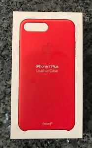 reputable site 17e1e a6391 Details about New SEALED Apple  Leather Case for iPhone 7 Plus  (PRODUCT)RED - iPhone 8 Plus
