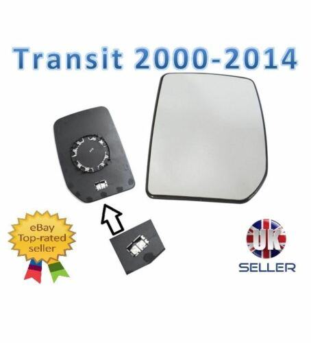 Ford Transit Mk6 2000-2014 Ala Espejo De Cristal calentada N//S Lado Del Pasajero Izquierda