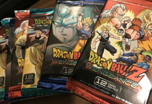 Dragon Ball Z Vengeance Panini TCG Game Booster 12 Card Pack