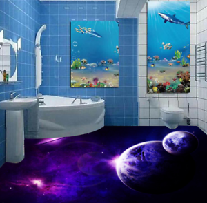 3D púrpura tierra Papel Pintado Mural Parojo Impresión de suelo 532 5D AJ Wallpaper Reino Unido Limón