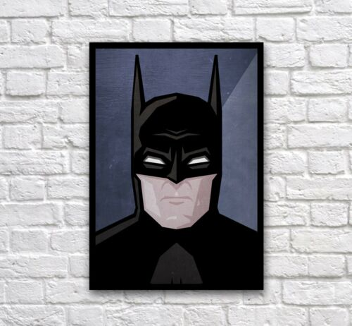 "Batman Art Print 8x10/"" Vect-o-Grunge Style Signed by Artist"