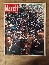 Paris Match du 28 Mars 1964 De Gaulle reportage couleur a Mexico