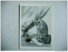 CP grand format CHOUETTE HIBOU voyante nostradamus format 14 x 19 liliane Proux