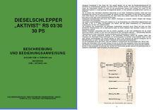 Betriebsanleitung Bedienungsanweisung Handbuch Aktivist  RS 03/30 03 30 VEB IFA