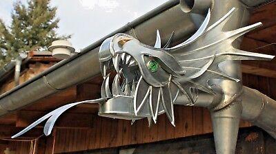 """Drachen Drachenkopf Wasserspeier """"zarkon"""" Zink Ablauf Dn 60/ Dn 76 Dragon"""