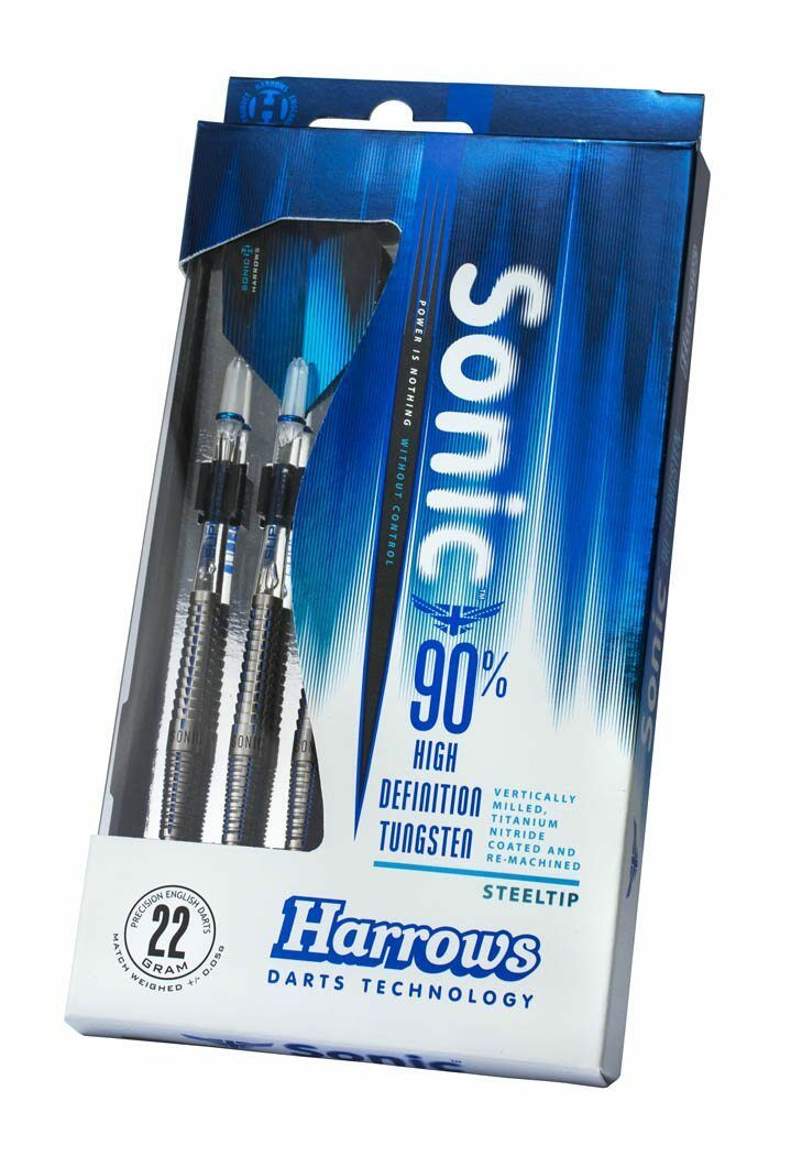 Harrows Sonic bluee Groove Tungsten Darts – 21g