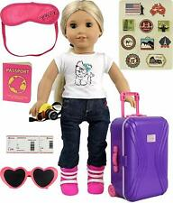 """3 Piece Faux Leather Doll Size Luggage//Suitcase Set for 18/"""" Doll ~ New Old Stock"""