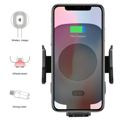 QI Wireless Charger Car Charging Air Vent Phone Mount Holder For iPhone Samsung