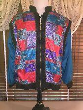 Womens VINTAGE LAVON M Medium Multicolored Full Zip Baroque Jacket