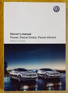 vw passat saloon estate alltrack b8 2014 2018 owners manual handbook rh ebay ie vw passat owners manual 2012 vw passat owners manual 2013