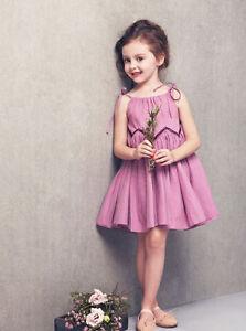 Toddler Infant Kids Baby Girls Summer Dress Princess Party Wedding Gauze Dresses