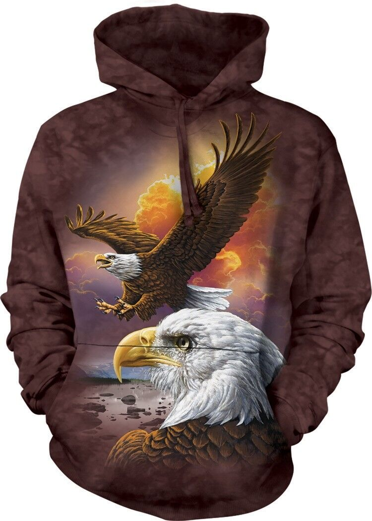 Eagle & Clouds Adult Bird Hoodie the Mountain