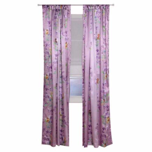 Disney Fairies Tinkerbell Fairy Stripe Window Panel Curtain Drape NEW