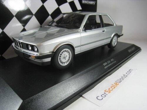 BMW 323i 1982 E30 COUPE 1/18 MINICHAMPS (SILVER)