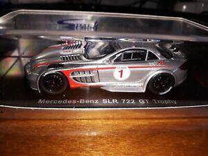 Spark 1/43 Mercedes Slr 722 # 1 Gt Trophy J. Alesi S1027