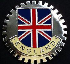 England Union Jack Flag Car Grille Badge Chrome Emblem London Jaguar Range Rover