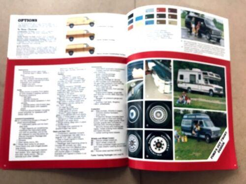 1981 Ford Econoline Cargo Van 12-page Original Sales Brochure Catalog